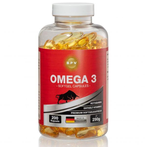 BPV - PREMIUM Omega 3 Fischöl Softgel Kapseln 200 Stück
