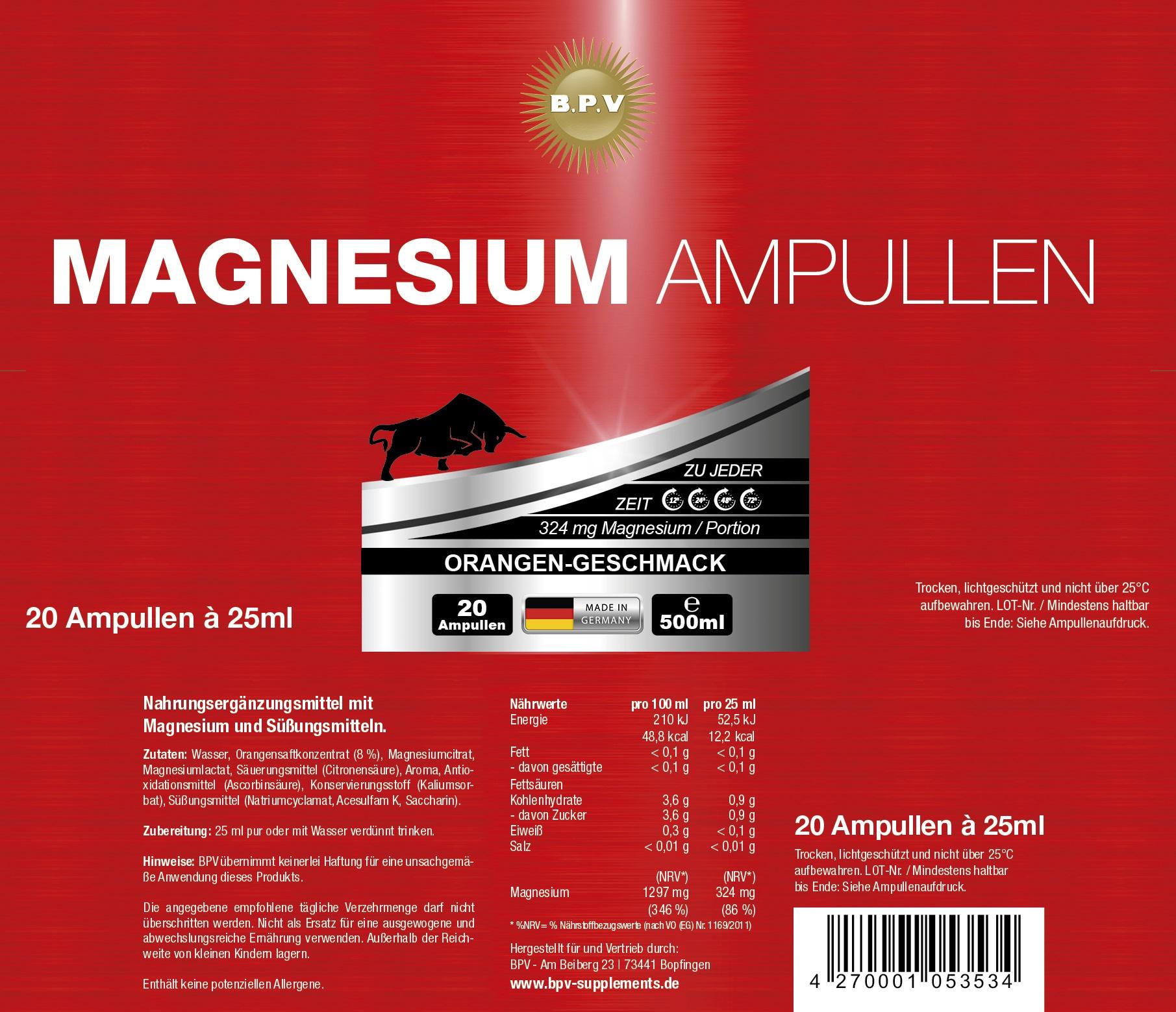 MAGNESIUM-AMPULLEN