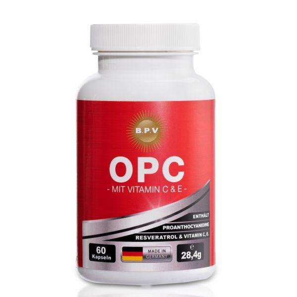BPV - Premium Produkt OPC- Traubenkernextrakt + Vitamin C & E - 60 Kapseln