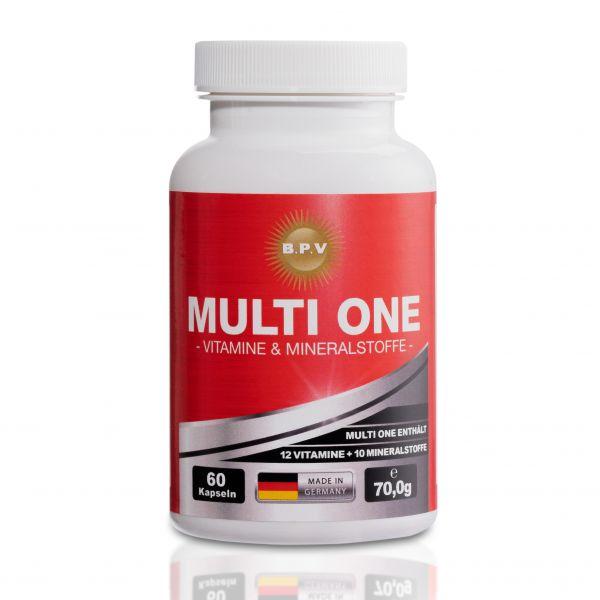 BPV - MULTI ONE - Vitamin & Mineralstoffe - Formel zur Komplettversorgung - 60 Kapseln