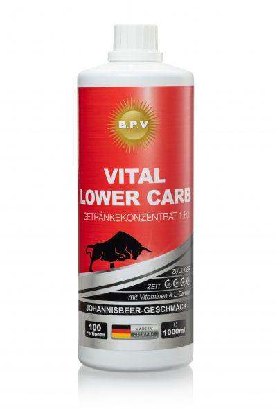 BPV - Vital Lower Carb - Vital Drink Konzentrat 1:80 / 1 Liter Flasche mit Vitamin und L-Carnitin