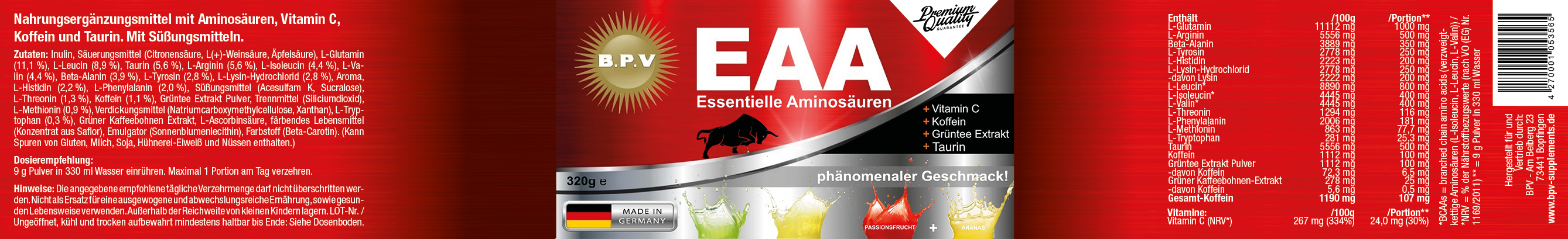 ANSICHT_EAA-Instant-Pulver_320g_750ml-Dose_Ananas-Passionsfrucht_