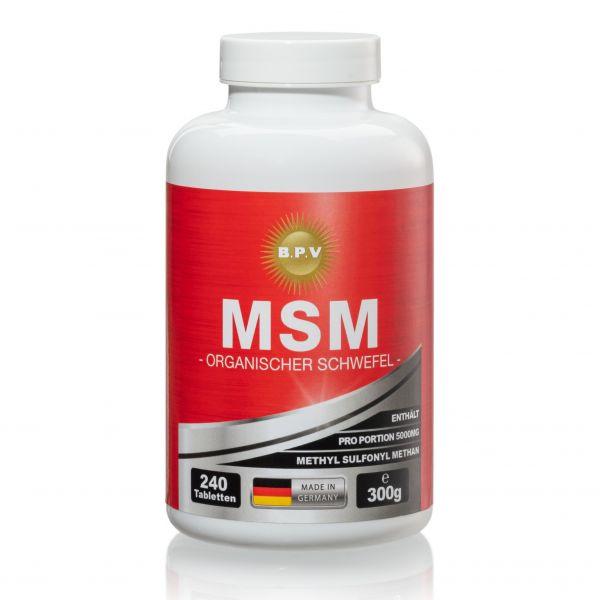 BPV - MSM Organischer Schwefel - 240 Kapseln - hochdosiert 5000 mg Tagesdosis