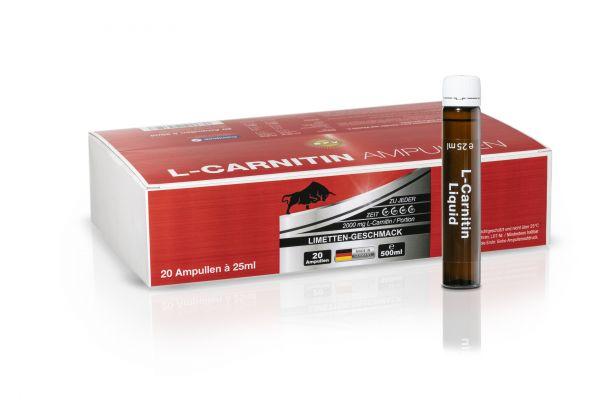 L-CARNITIN AMPULLEN 20 Stück á 25ml mit Vitamin C